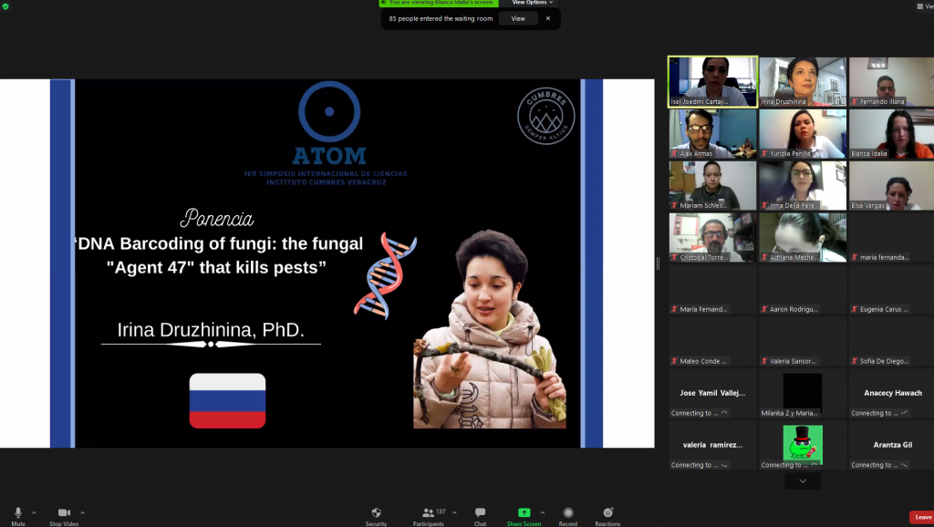 """A Zoom talk on the """"First Science Symposium: ATOM"""" in Mexico"""