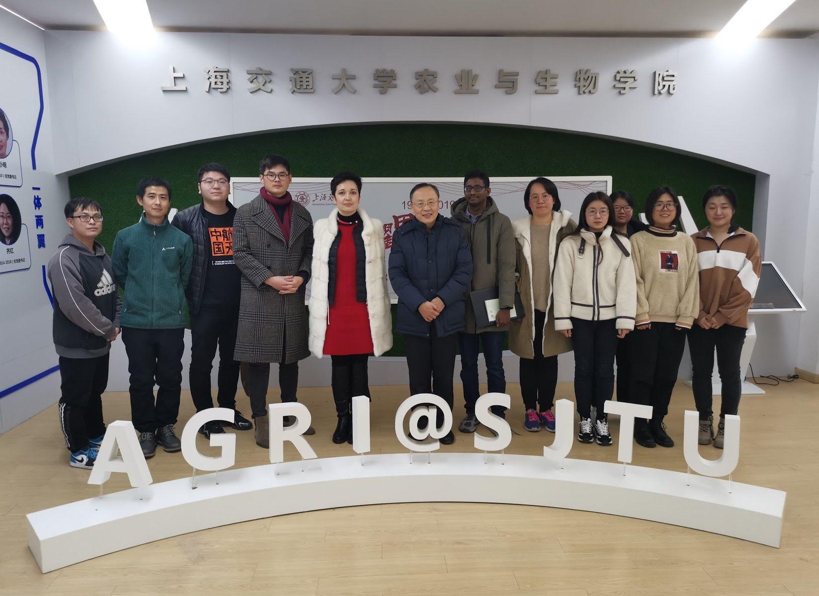 Irina S. Druzhinina and Feng Cai visirting Shanghai Jiaotong University, December 25, 2020