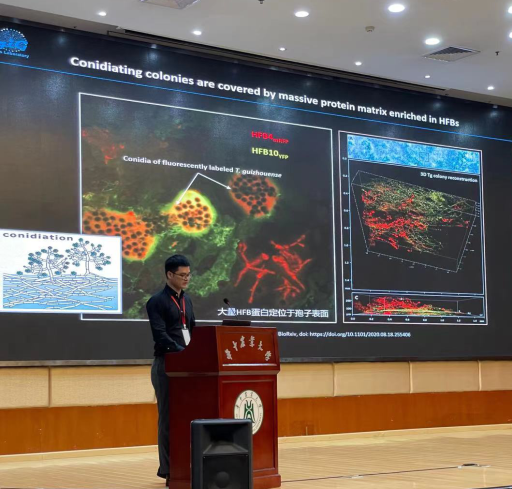 Feng Cai at 13th conference on Model Fungi Wuhan 2021